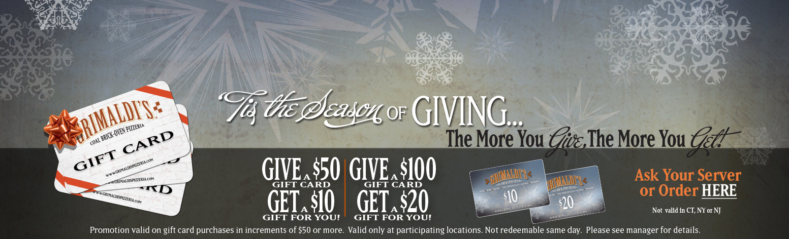 'Tis the season of giving... The more you give, the more you get!