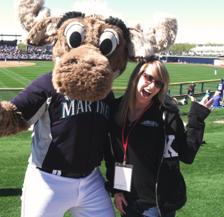 Team Member with Mariner Moose