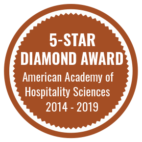 5-Star Diamond Award, American Academy of Hospitality Sciences 2014-2019